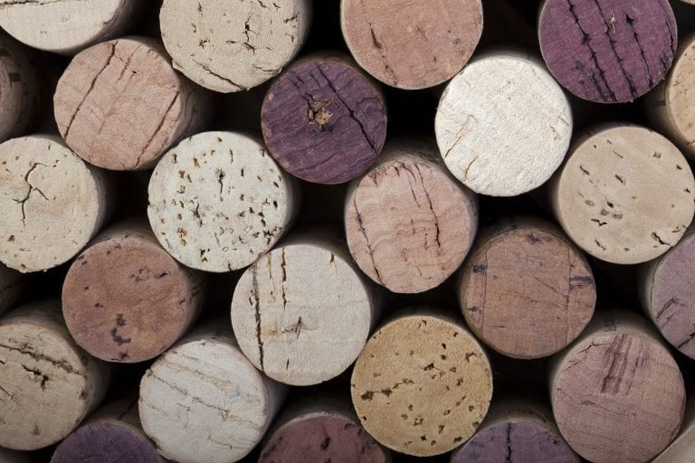 collection of corks from wine bottles