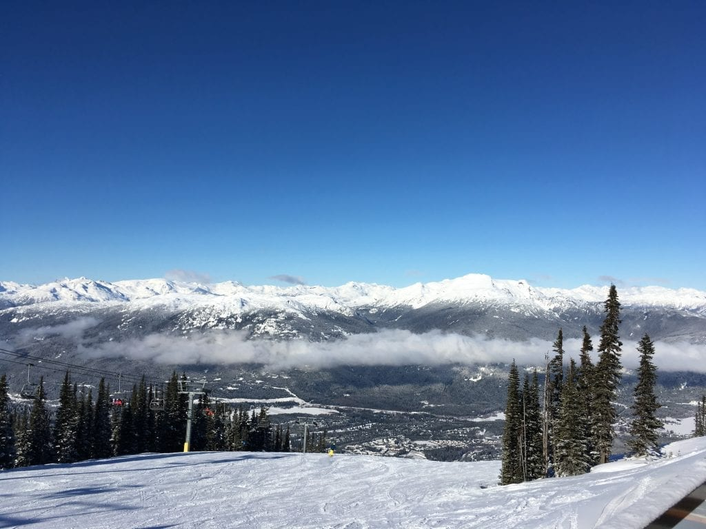 panorama view from Whistler Blackcomb ski hill