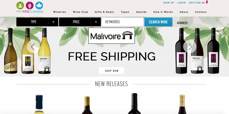 click here to go to mywinecanada.com for ordering BC and Canadian wine online