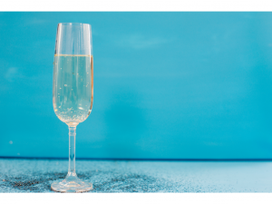 Prosecco in a flute glass